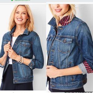 NWT Talbots jean jacket